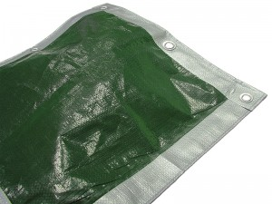 Faithfull Heavy Duty Waterproof Tarpaulin Sheet Green & Silver 3.6m x 2.7m