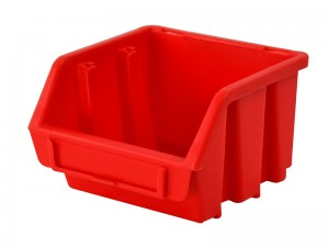 Faithfull Interlocking Plastic Storage Bins Red (Various Sizes)