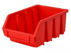 Faithfull Interlocking Storage Bin Red 116mm x 212mm x 75mm