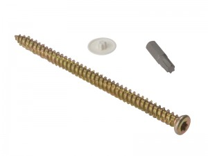 ForgeFix Concrete Frame Torx Screw 7.5mm Zinc Plated Bag of 10 (Various Lengths)