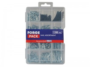 ForgeFix Assorted Nails & Organiser Set 1200-Piece Forge Pack Kit