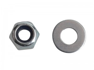 ForgeFix Hexagon Nyloc Nut & Washer Zinc Plated Pack Qty's (Sizes M3-20)