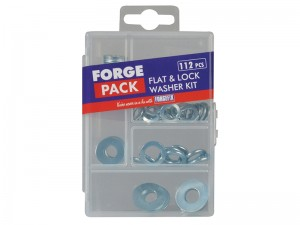 ForgeFix Flat Washer Mixed Set 112-Piece Kit
