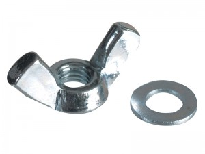 ForgeFix Wing Nut & Washer Zinc Plated Pack Qty's (Sizes M5-12)