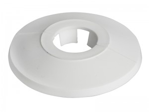 ForgeFix Pipe Hole Collar Cover Cap White Box of 25 (Sizes 15-22mm)