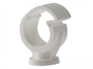 ForgeFix Pipe Clip Single Clip-Lock White Box of 100 (Sizes 15-28mm)