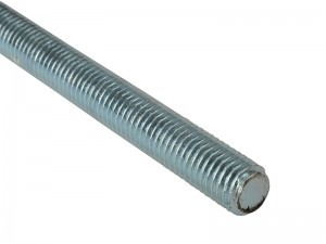 ForgeFix Threaded Rod Zinc Plated 1-Metre Bar (Sizes M6-20)