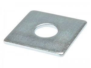 ForgeFix Square Plate Washer Zinc Plated Bag of 10 (Sizes M10-16)
