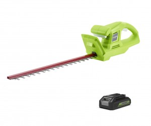 Greenworks G24HTK2 Cordless 24v Hedge Trimmer 51cm/20in with Battery