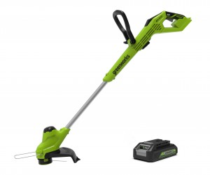Greenworks G24LT28K2 Cordless 24v Line Trimmer 28cm/11in with Battery