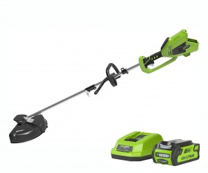 Greenworks GD40BCK2 Cordless 40v Top Mount Line Trimmer 35cm/14in with Battery