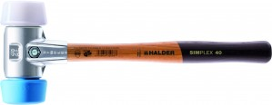 Halder Simplex Soft Face Mallet Hammer With Aluminium Housing 110mm x 330mm