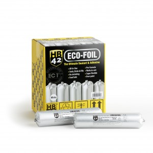 HB42 Eco-Foil Ultimate Universal Sealant & Adhesive 400ml (Black or White)