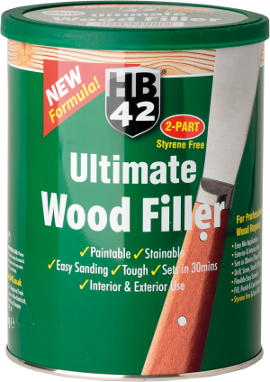 HB42 Ultimate Wood Filler White 3.3 Litre Tub