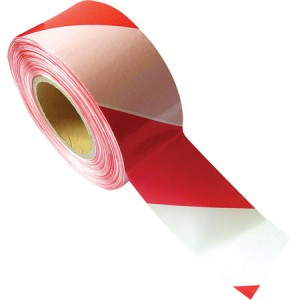 Toolpak Red & White Barrier Tape 75mm x 500m