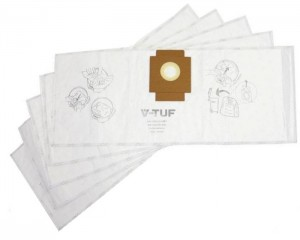 V-Tuf Replacement Dust Bags for MINI M-Class Extraction Vac Pack of 5
