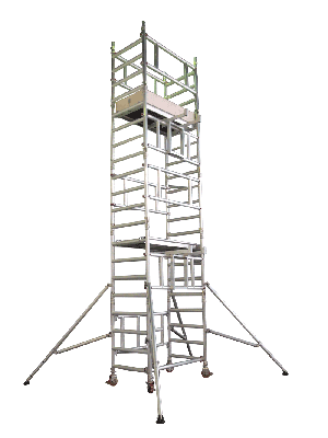 UTS One Man Alloy Scaffold Access Tower With Adjustable Platform Heights 1.3m Length