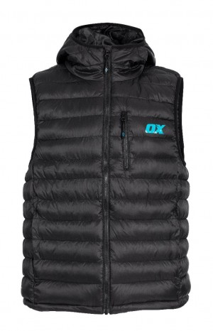Ox Ribbed Work Gilet Padded Bodywarmer Black (Sizes S-XXL)