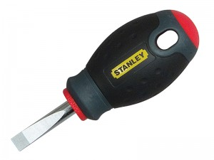 Stanley FatMax Stubby Parallel Tip Slotted Screwdriver (Various Sizes)