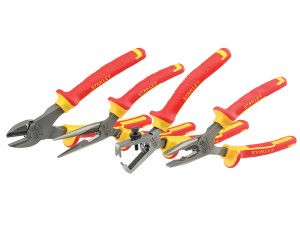 Stanley FatMax VDE Electricians Combination Diagonal Wire Stripping Pliers Set 4-Piece