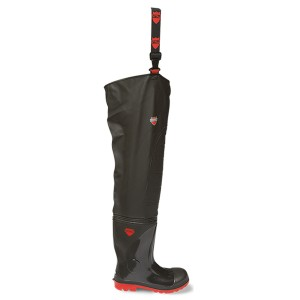 V12 Vital Stream Thigh Wader Safety Boots Black (Sizes 3-15)