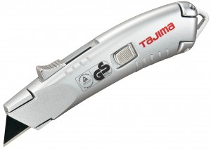 Tajima Self Retracting Utility Knife With 3x V-REX Blades