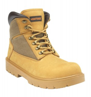 Worktough Tradesman Safety Work Boots Tan Honey (Sizes 6-13)