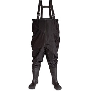 V12 Thames Chest Wader Safety Boots Black (Sizes 6-12)