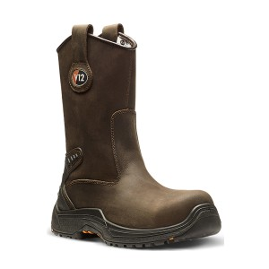 V12 Tigris Lightweight Safety Rigger Work Boots Brown (Sizes 5-13)