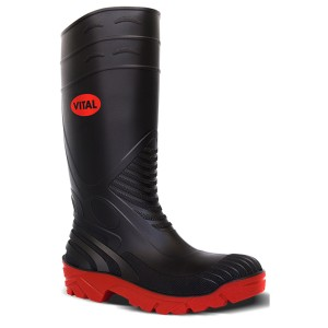 V12 Vital Titan Safety Wellington Boots Black (Sizes 3-13)