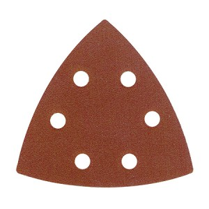 Toolpak 6 Hole Sanding Triangle Sheets 93mm Pack Of 10 (Various Grits)