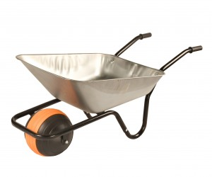Walsall Duraball Galvanised Wheelbarrow In A Box 85 Litre with Puncture Proof Ball Wheel