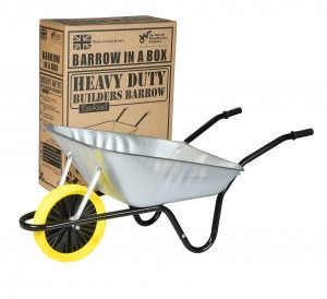Walsall Easiload Galvanised Wheelbarrow In A Box 85 Litre with Puncture Proof Wheel