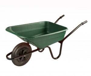 Walsall Green Wheelbarrow In A Box 90 Litre with Pneumatic Wheel