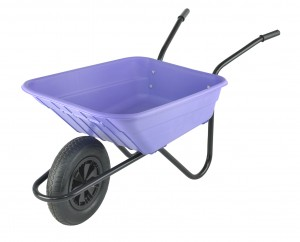 Walsall Lilac Wheelbarrow In A Box 90 Litre with Pneumatic Wheel
