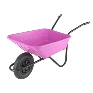 Walsall Pink Wheelbarrow In A Box 90 Litre with Pneumatic Wheel