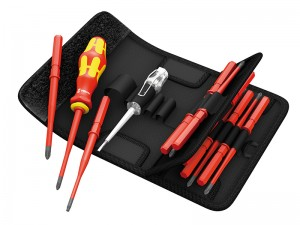 Wera Kraftform VDE Kompakt Interchangeable Slimline Screwdriver & Insert Blades Set 16-Piece