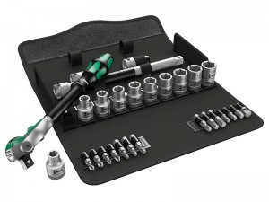 Wera 8100 SC 6 Zyklop Speed 1/2in Drive Metric Ratchet & Bits Set 28-Piece