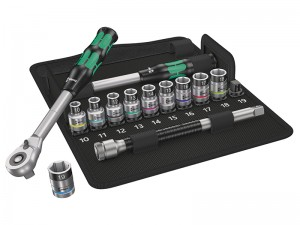 Wera 8006 SC 1 Zyklop Hybrid 1/2in Drive Metric Socket Set 13-Piece