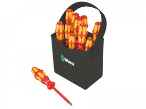 Wera Kraftform 2go Plus VDE Lasertip Screwdrivers Set 12-Piece