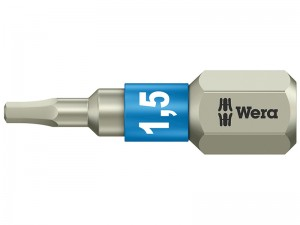 Wera 3840/1 TS Torsion Stainless Steel Hex Insert Screwdriver Bit (Various Sizes)