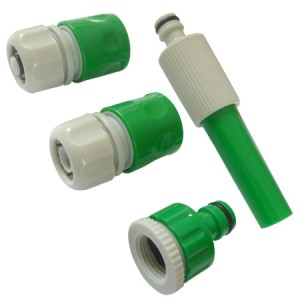 Toolpak Water Hose Pipe Nozzle & Connector Set 5-Piece
