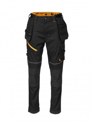 Worktough Stretch Holster Pocket Work Trousers Tapered Fit Black (Various Sizes)