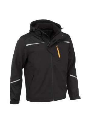 Worktough Heavyweight Softshell Work Jacket Black (Sizes S-XXXL)