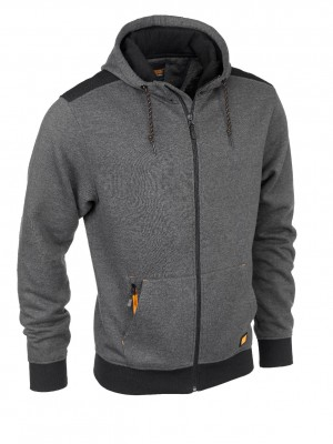 Wortktough Zip Thru Hooded Fleece Jacket Dark Grey (S-XXXL)