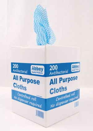 All Purpose Antibacterial Cleaning Cloths (Box OF 200)