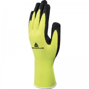 Delta Plus APOLLON VV733 Safety Gloves Yellow (Various Sizes) Polyester with Latex Coating