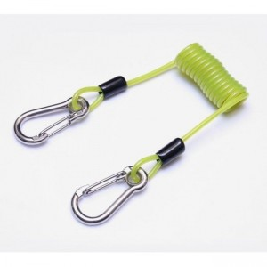 Aresta Coiled Cable Green Tool Safety Lanyard 5kg with Snap Hooks