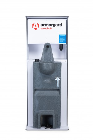Armorgard ScrubHub Cold Water Hand Washing Stand 45 Litre 596x470x1555mm