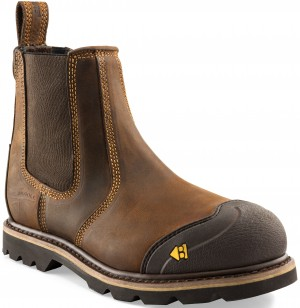 Buckler B1990SM Buckflex Anti-Scuff Safety Dealer Work Boots Dark Brown (Sizes 6-13)